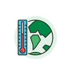 Global Warming concept icon vector