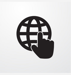 Globe cursor icon for web and mobile vector