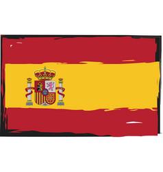 grunge spain flag or banner vector image
