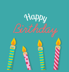 happy birthday birthday candles background vector image