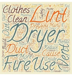 How to Prevent Clothes Dryer Fires text background vector image