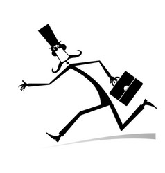 hurry and busy man isolated vector image