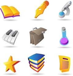 Icons for education and knowledge vector image