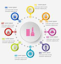 infographic template with beauty icons vector image vector image
