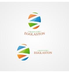 logo with a creative egg logo vector image