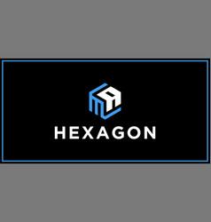 Ma hexagon logo design inspiration vector