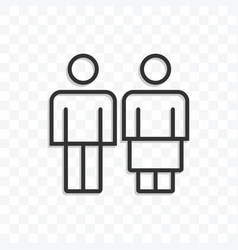 man woman or couple icon on transparent background vector image
