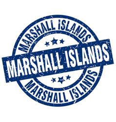 Marshall islands blue round grunge stamp vector