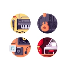 Music equipment and intstrument vector image