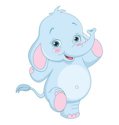 Of cartoon elephant vector