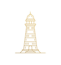 outline icon traditional lighthouse hand drawn vector image