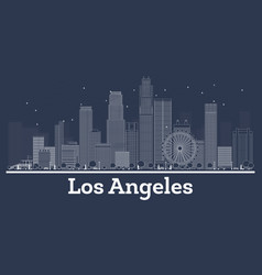 outline los angeles california city skyline with vector image