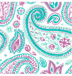 Paisley pattern floral indian flower vector