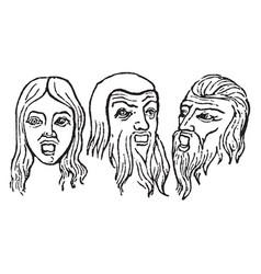 Persona masks were worn greek and roman actors vector