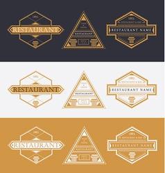 Restaurant logo and design elements vector