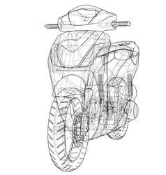 Scooter outline concept vector
