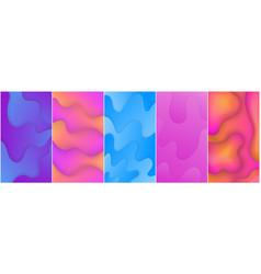 set liquid abstract shape gradients vector image