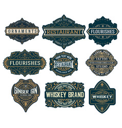 Set logos labels and banners layered vector