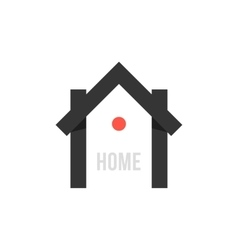 smart house black icon with point vector image