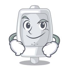Smirking urinal in the a cartoon shape vector