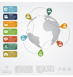 Social network infographic2 vector