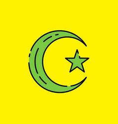 Symbol islam icon vector