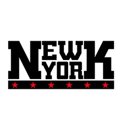 T shirt typography New York stars vector image