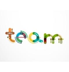 Team word lettering banner vector image