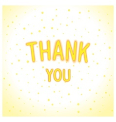 Thank you - just lettering vector