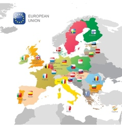 The European Union map vector image