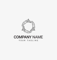 Triangle in circle logo vector