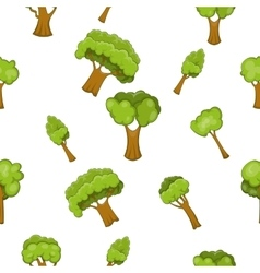 Types of trees pattern cartoon style vector image