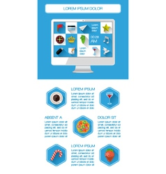 Ui infographics and web elements vector