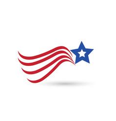 Usa abstract flag star symbol vector