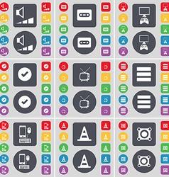 Volume Cassette PC Tick Retro TV Apps Smartphone vector