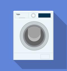 wash machine icon flat style vector image