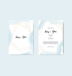 wedding invite with abstract watercolor style vector image