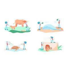 wild animal rescue concept vector image