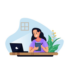 work at home vector image