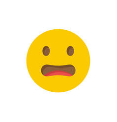 Worried face emoticon icon symbol isolated vector