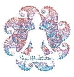 Yoga meditation poster vector image