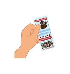 movie ticket icon vector image vector image