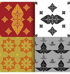 Seamless pattern of thai art vector image