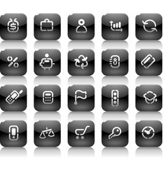 Stencil black buttons for business vector image vector image