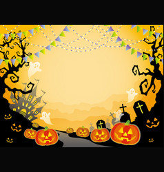 a seamless halloween landscape vector image vector image