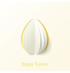 Abstract paper Easter egg background vector image vector image