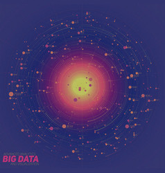 big data blue visualization vector image vector image