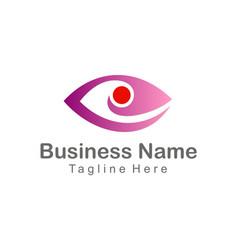 eye cam watch company logo vector image vector image
