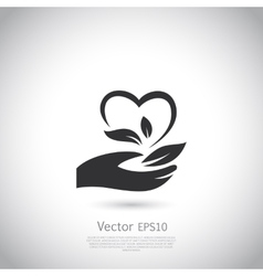 Natural product icon design template vector image vector image