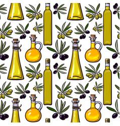 seamless pattern backdrop design of olive vector image